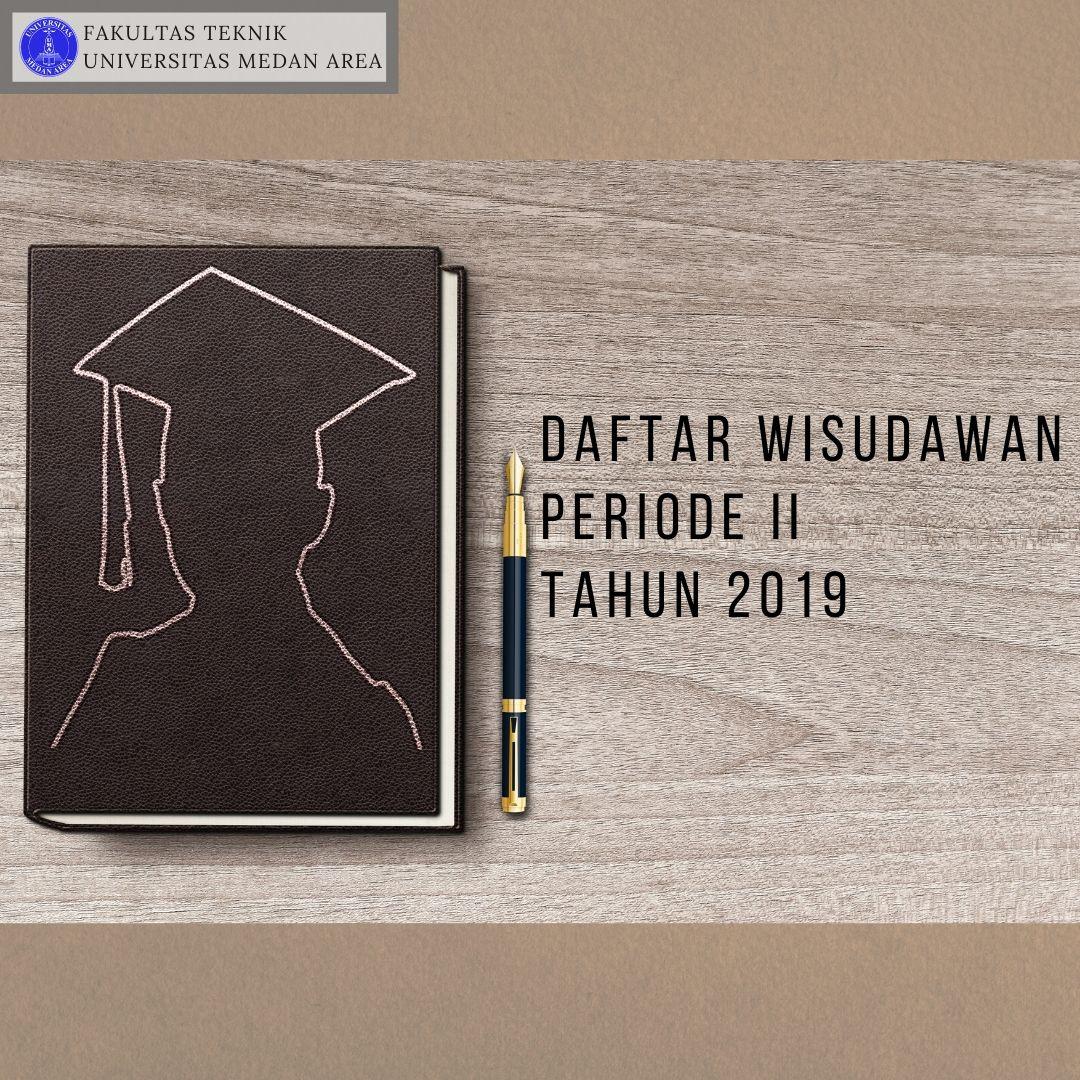 Daftar WIsudawan periode II tahun 2019